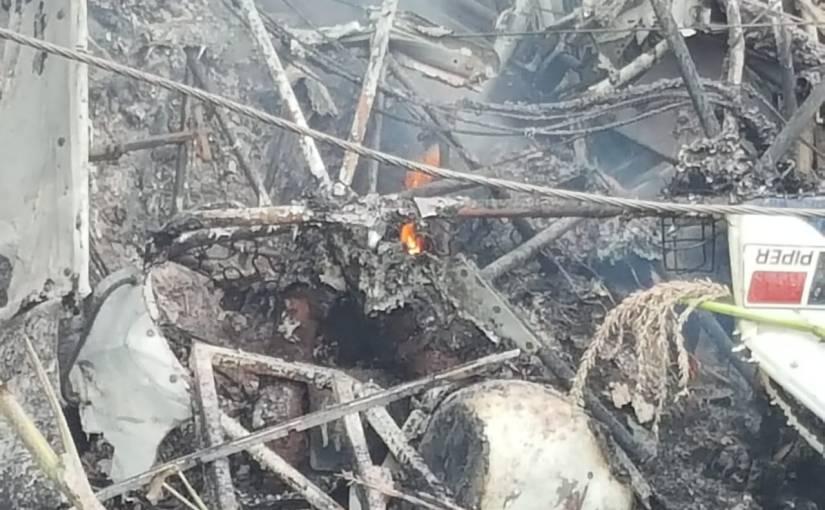 Se desplomó avioneta en Tototlán, el piloto falleciócalcinado