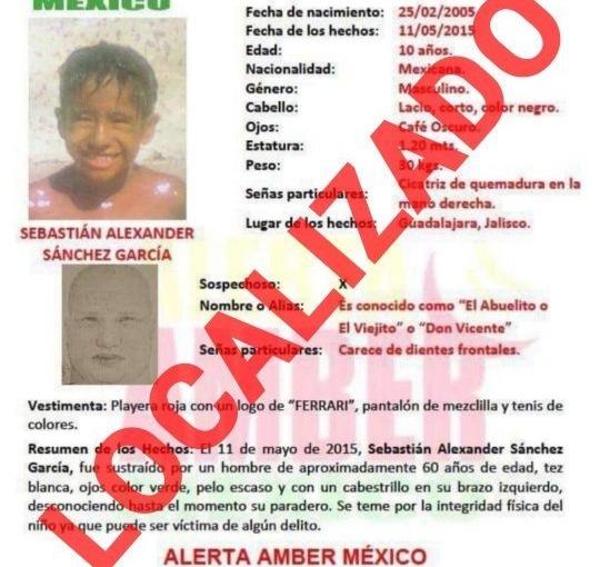 Menor desaparecido hace 4 años en Tlajomulco fue encontrado enTlalnepantla
