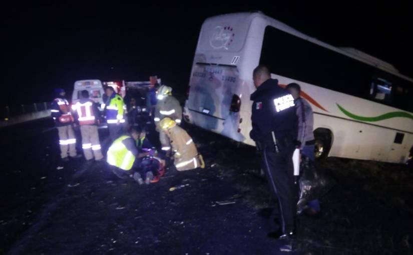 Choque de autobús con atletas del CODE deja 2 personasgraves